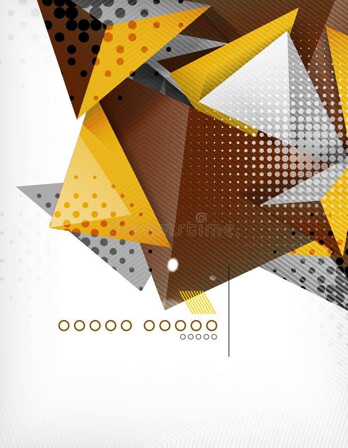 Fond géométrique d'abrégé sur triangle de forme illustration libre de droits