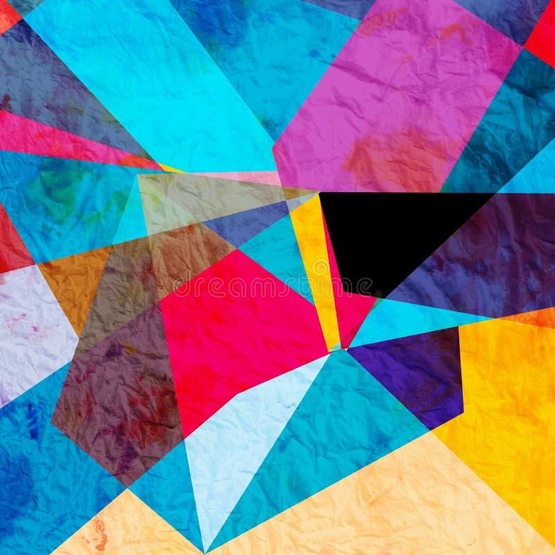 Fond géométrique d'aquarelle abstraite illustration de vecteur
