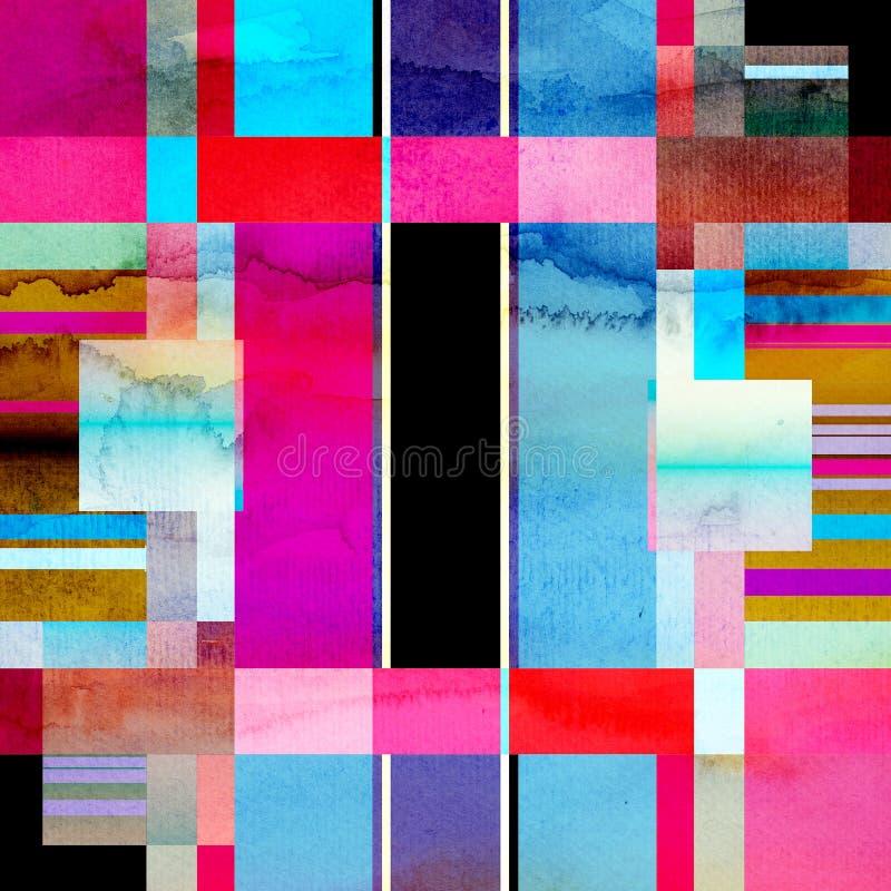 Fond géométrique d'aquarelle abstraite images libres de droits