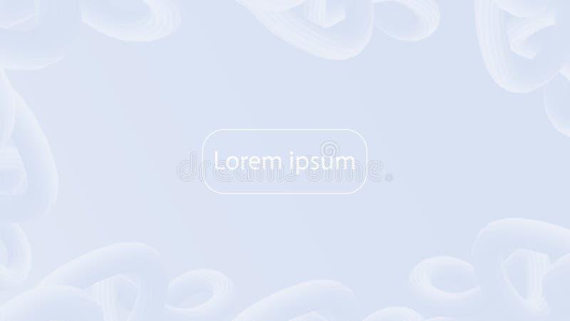 Fond géométrique de bruit de gradient futuriste d'art Couleur en pastel liquide illustration libre de droits