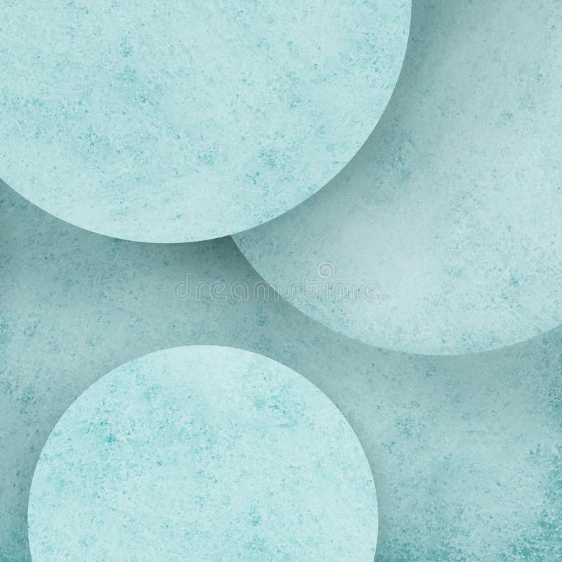 Fond géométrique de cercle bleu en pastel abstrait avec des couches de cercles ronds avec la conception affligée de texture illustration de vecteur