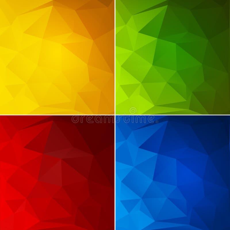 Fond géométrique de couleur abstraite illustration stock