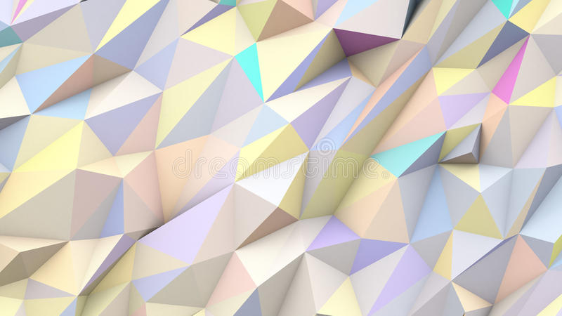 Fond géométrique de forme couleurs abstraites en pastel de triangles de poly illustration stock