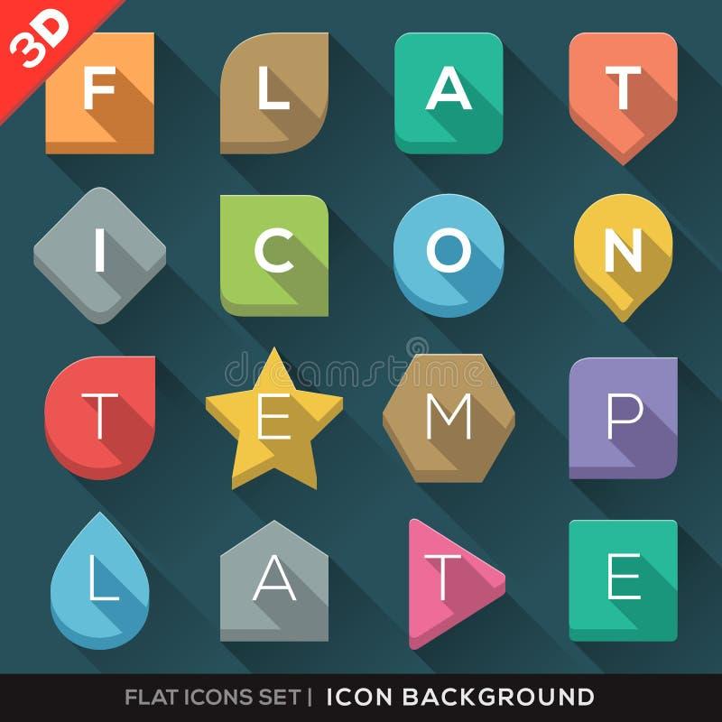 Fond géométrique de formes pour les icônes plates réglées illustration de vecteur
