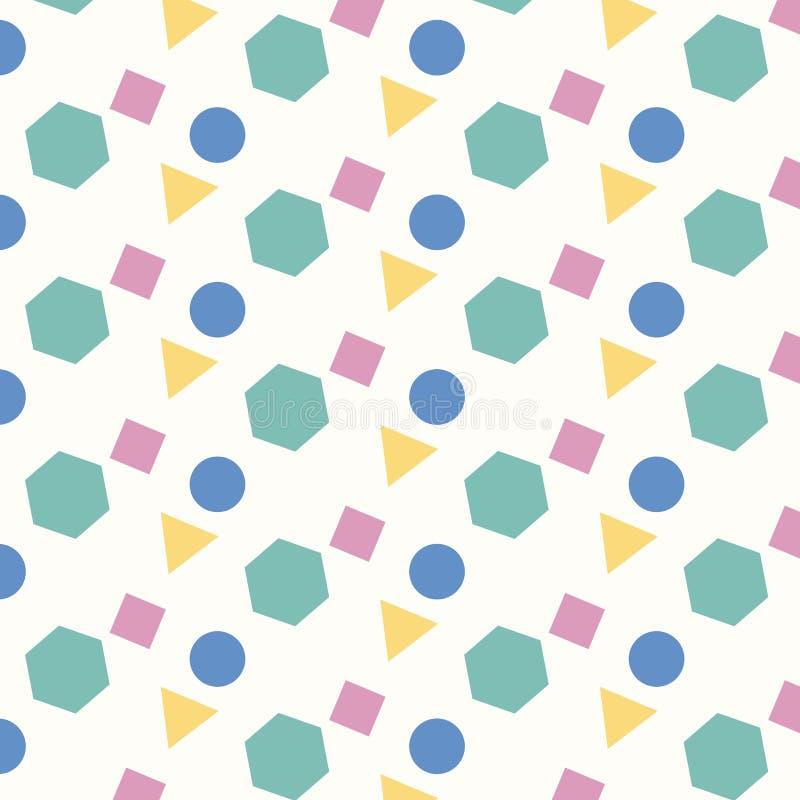 Fond géométrique de modèle de quatre formes de couleur illustration de vecteur