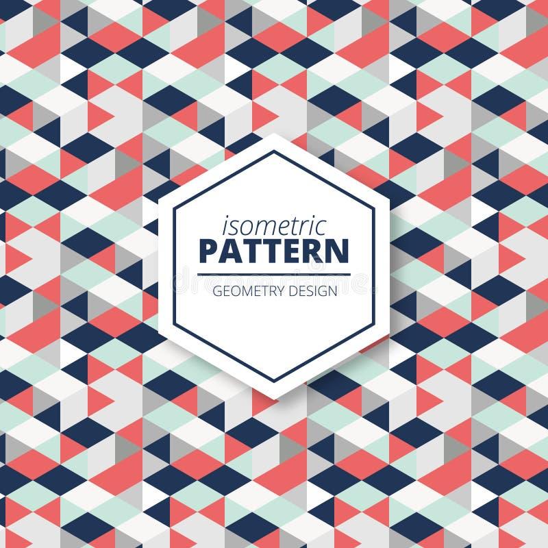 Fond géométrique de modèle de textile décoratif desing illustration stock