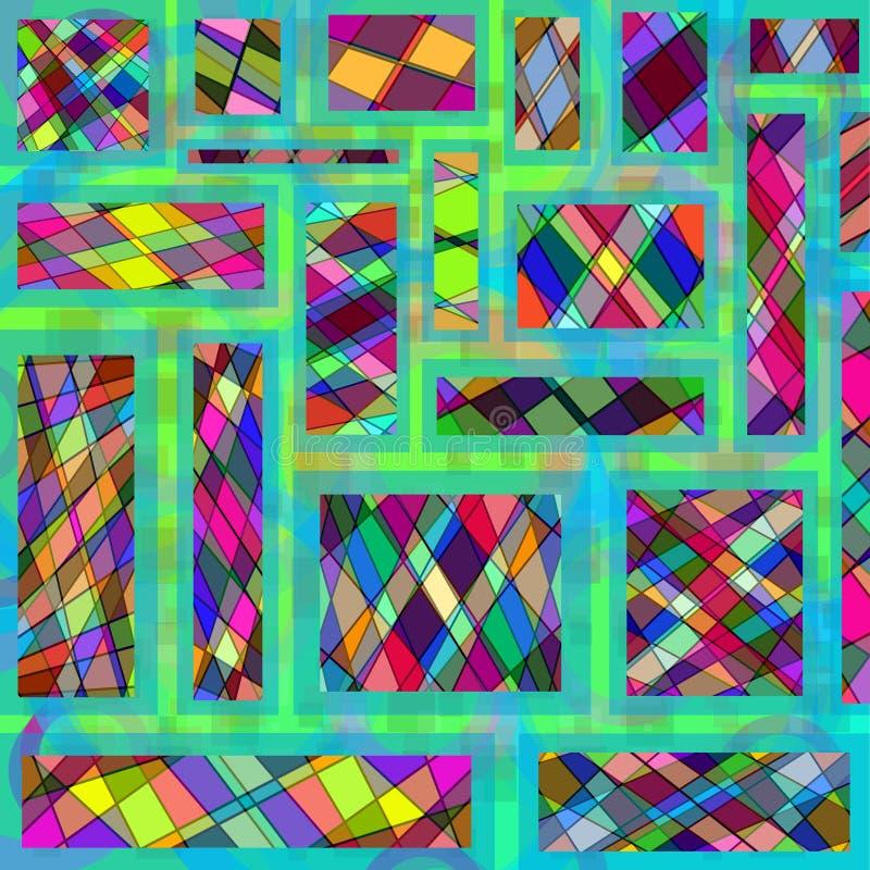 Fond géométrique de mosaïque coloré par résumé illustration de vecteur