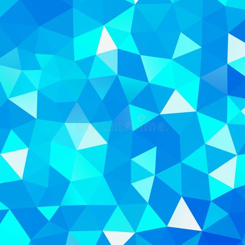 Fond géométrique de mosaïque de triangle illustration de vecteur
