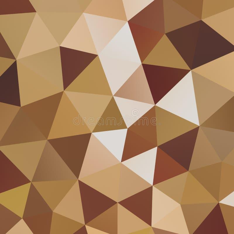 Fond géométrique de mosaïque de triangle illustration libre de droits