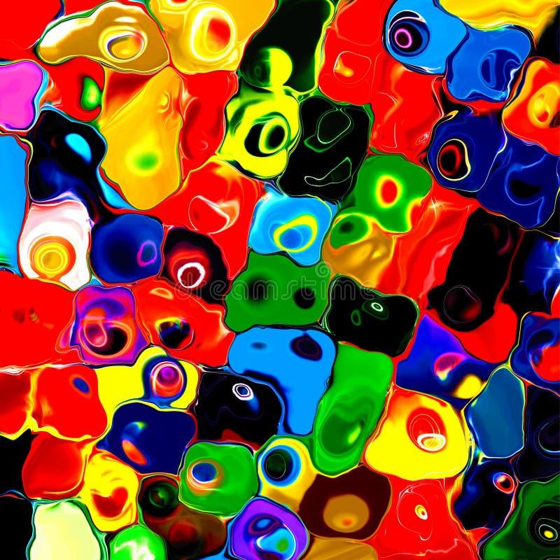 Fond géométrique de pallette d'arc-en-ciel de peinture mozaic colorée abstraite de tuiles illustration libre de droits