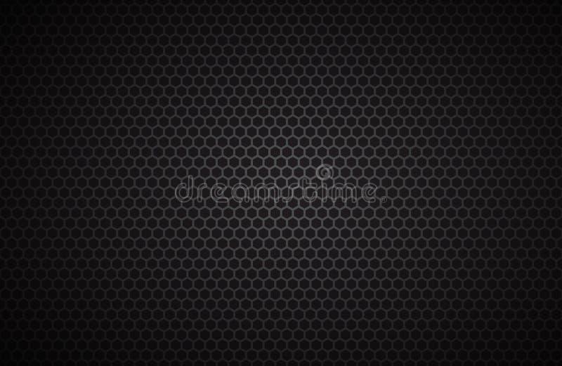 Fond géométrique de polygones, papier peint métallique noir abstrait illustration de vecteur