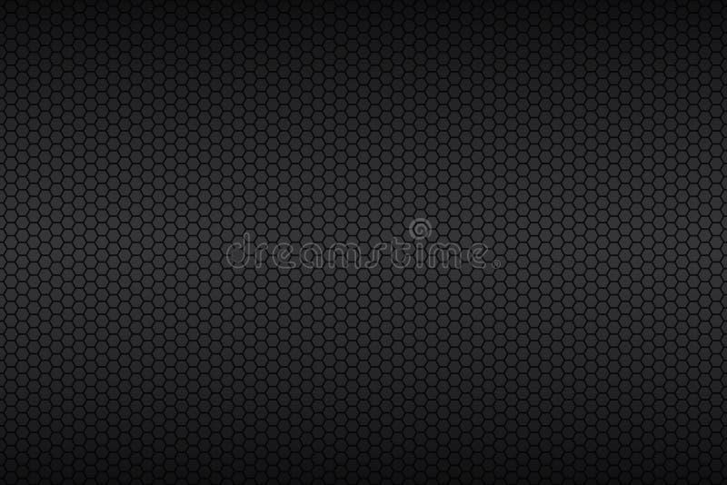 Fond géométrique de polygones, papier peint métallique noir abstrait illustration libre de droits