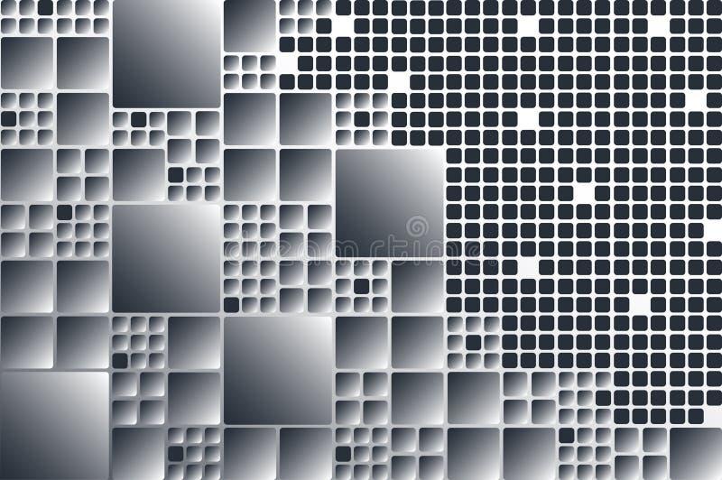 Fond géométrique de rectangle Composition dynamique en formes illustration stock