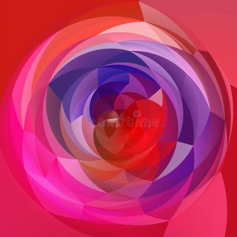 Fond géométrique de remous d'art moderne - rose indien, magenta et pourpre colorés illustration stock