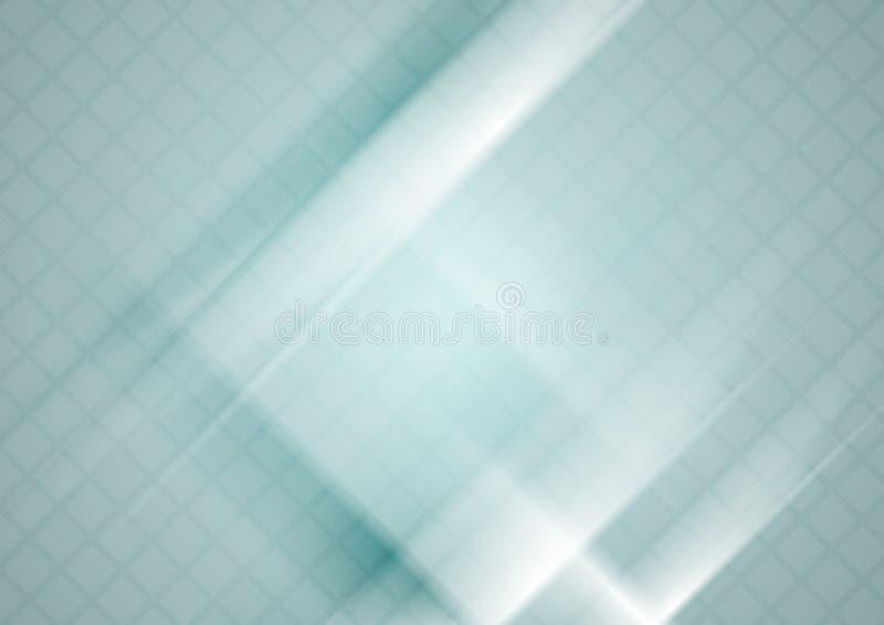Fond géométrique de technologie bleue avec la texture de places illustration libre de droits