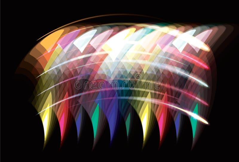 Fond géométrique de transparence abstraite trouble. illustration stock