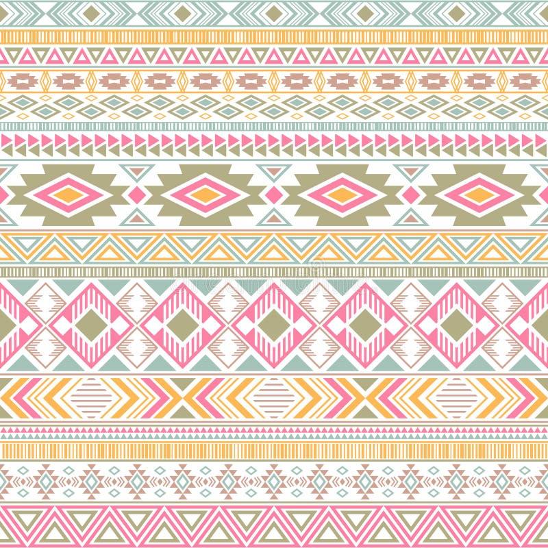 Fond géométrique de vecteur de motifs ethniques tribals indiens mexico-américains de modèle illustration stock