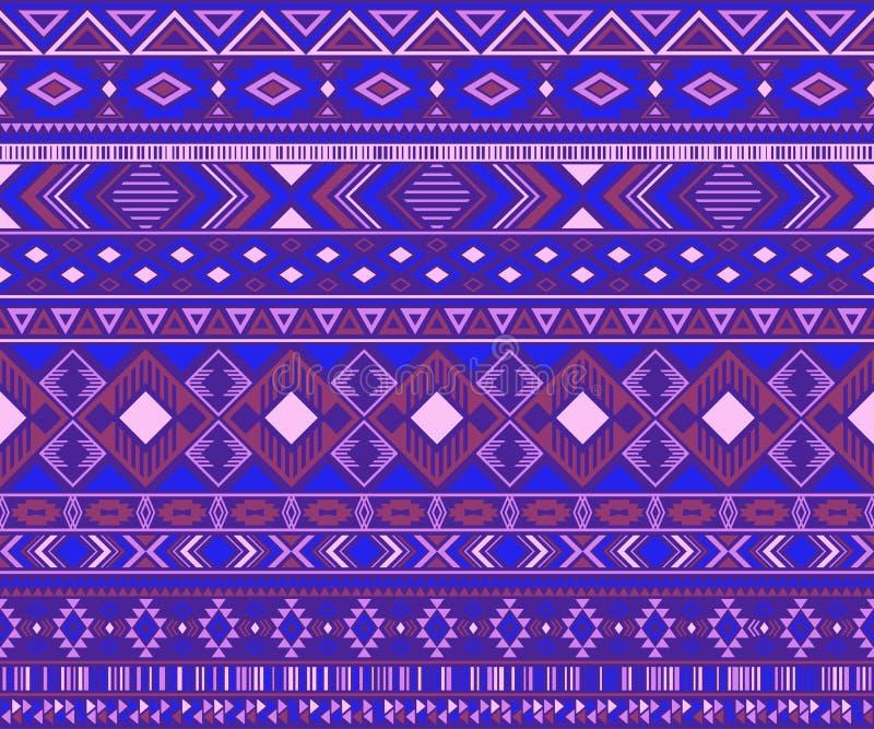 Fond géométrique de vecteur de motifs ethniques tribals indiens de modèle illustration libre de droits