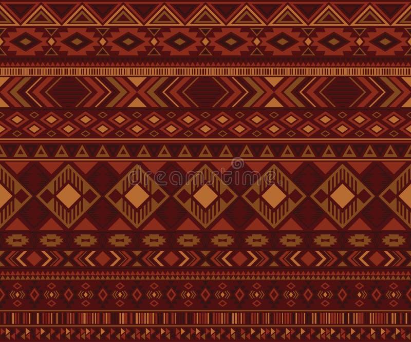 Fond géométrique de vecteur de motifs ethniques tribals indiens de modèle illustration de vecteur