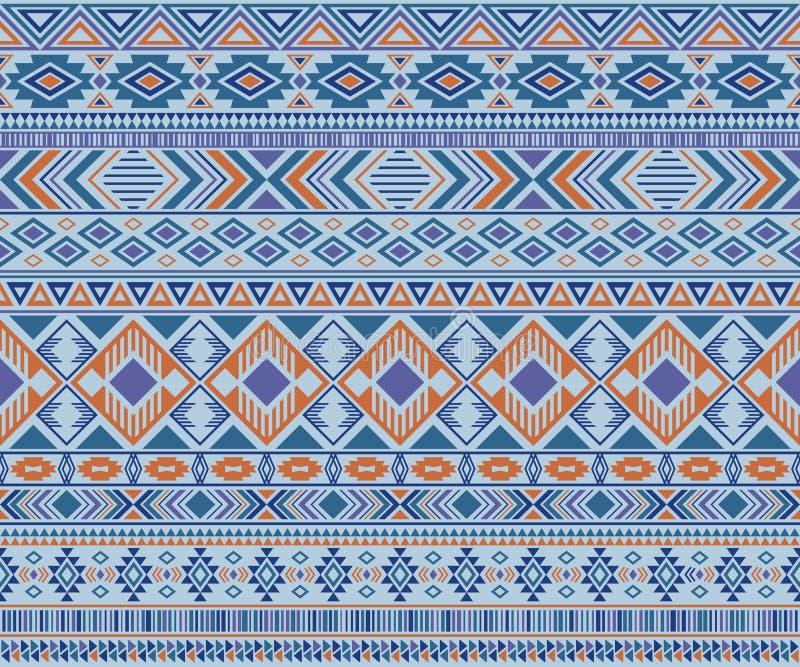 Fond géométrique de vecteur de motifs ethniques tribals indiens de modèle illustration stock