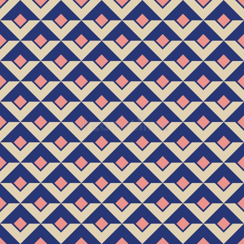 Fond géométrique des losanges et des formes triangulaires Conception plate illustration libre de droits