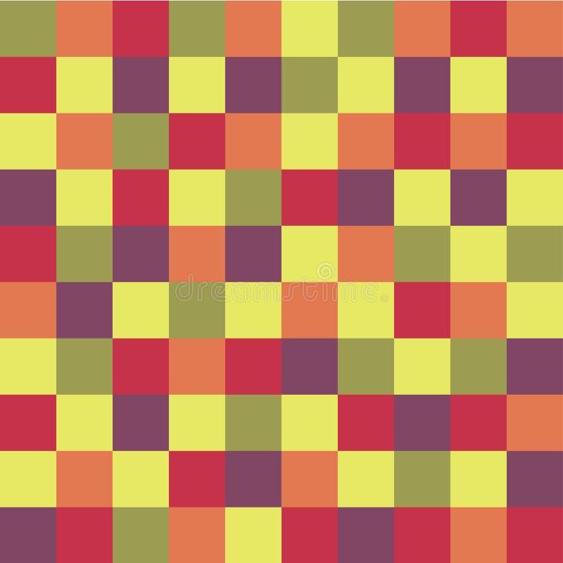 Fond géométrique des places colorées Fond de pixel illustration de vecteur