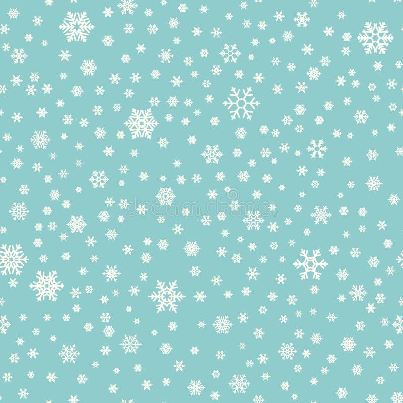 Fond géométrique différent sans couture de flocons de neige pour l'empaquetage, les cartes, les invitations de partie et le texti illustration stock