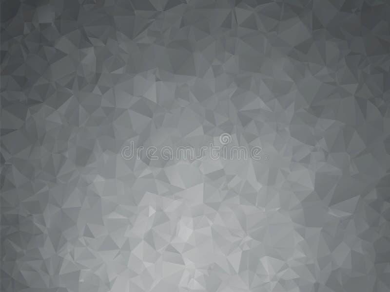 fond géométrique en métal foncé illustration de vecteur