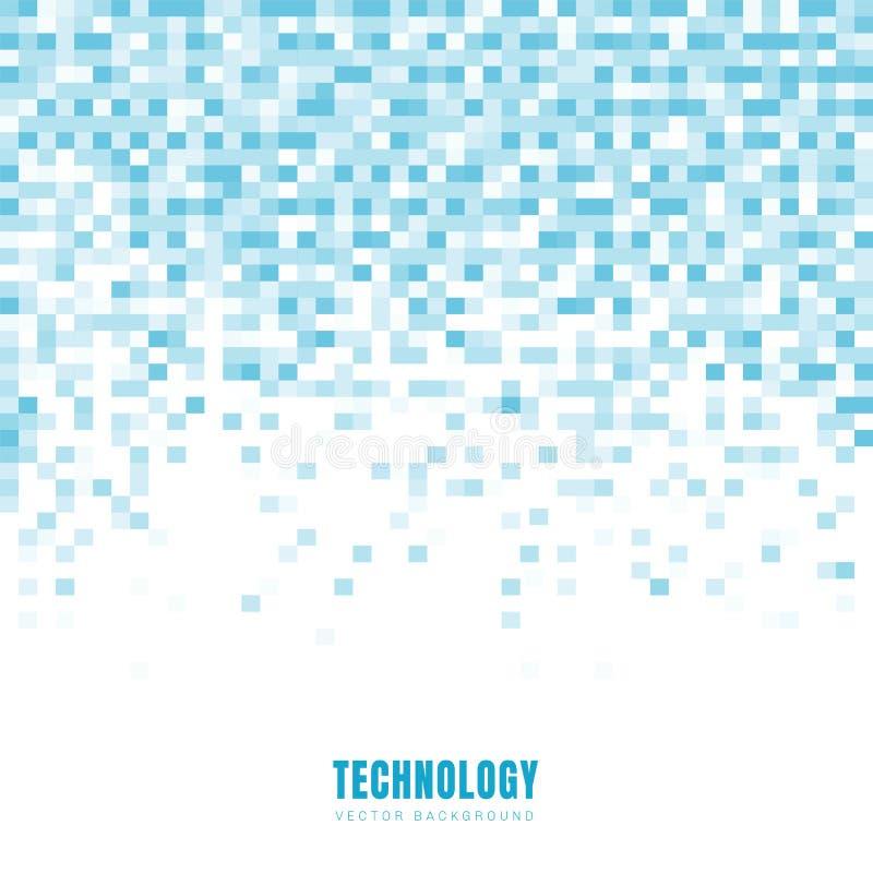 Fond géométrique et texture blancs de résumé et bleus de modèle de places avec l'espace de copie Type de technologie Grille de mo illustration libre de droits
