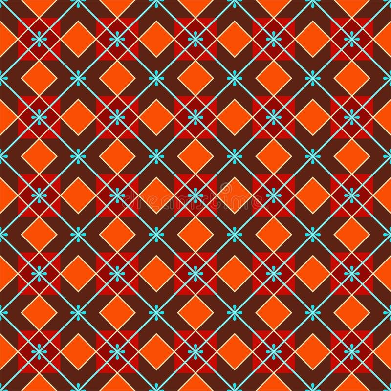 Fond géométrique fait de places, sans couture, rouge-brun illustration libre de droits