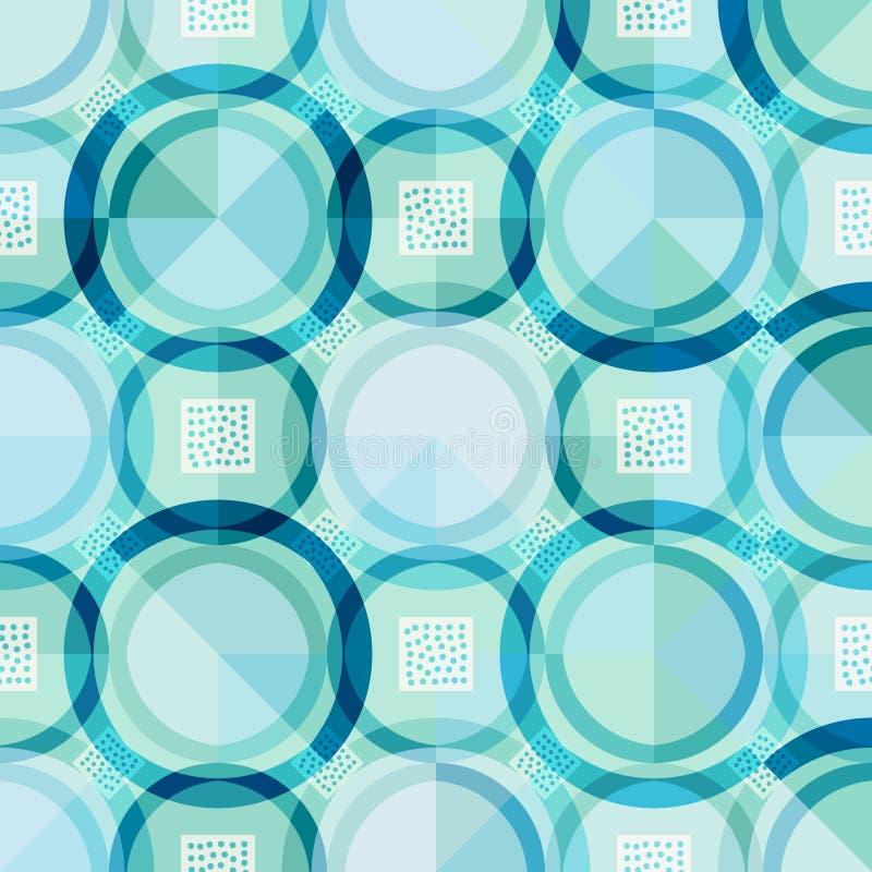 Fond géométrique futuriste vert et bleu vif illustration de vecteur