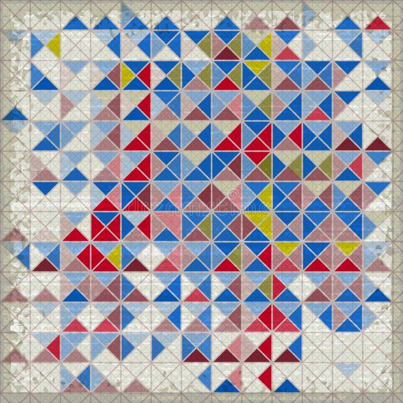 Fond géométrique grunge avec des triangles illustration libre de droits