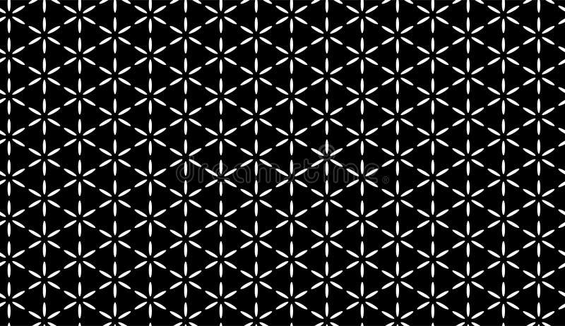 Fond géométrique noir et blanc sans couture de modèle de vecteur de résumé illustration de vecteur