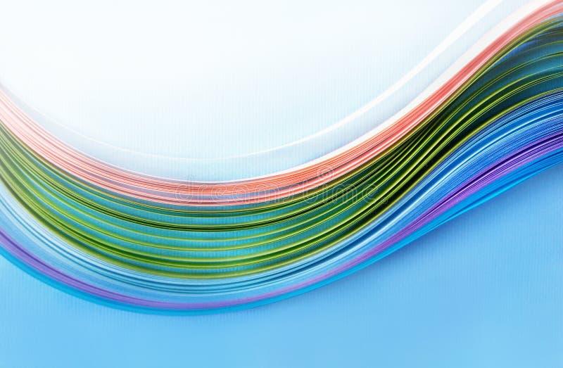 Fond géométrique onduleux avec l'espace pour le texte, rayures colorées pour les métiers de papier, la couverture du site, carte  photographie stock libre de droits