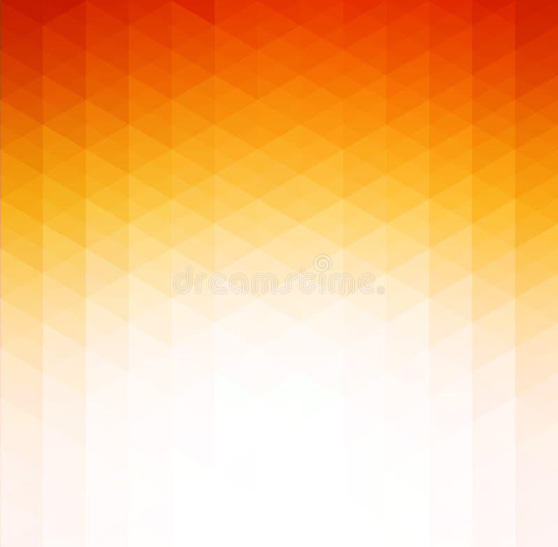 Fond géométrique orange abstrait de technologie illustration de vecteur