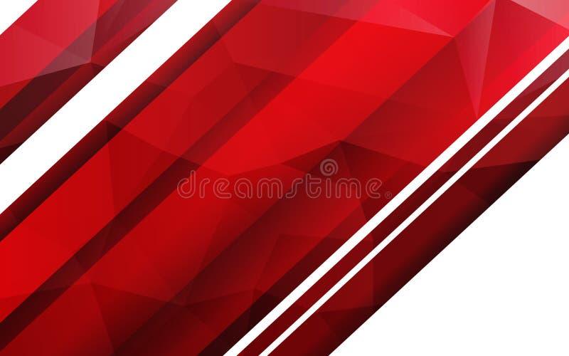 Fond géométrique rouge abstrait illustration de vecteur