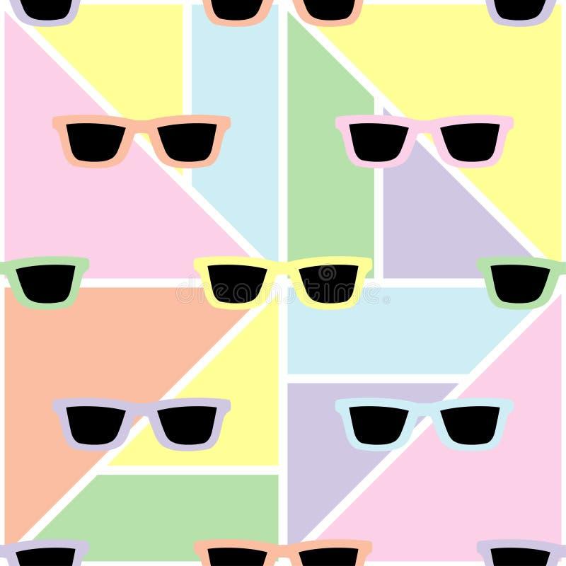 Fond géométrique sans couture avec des couleurs en pastel douces illustration de vecteur