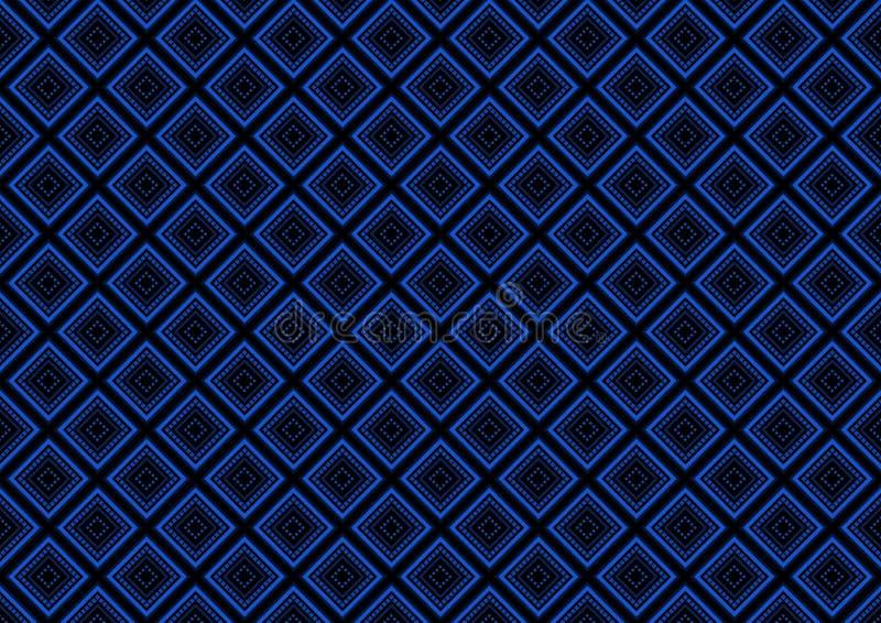 Fond géométrique sans couture bleu de modèle illustration de vecteur
