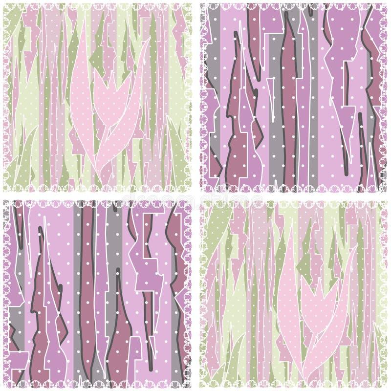Fond géométrique sans couture de modèle de patchwork illustration stock