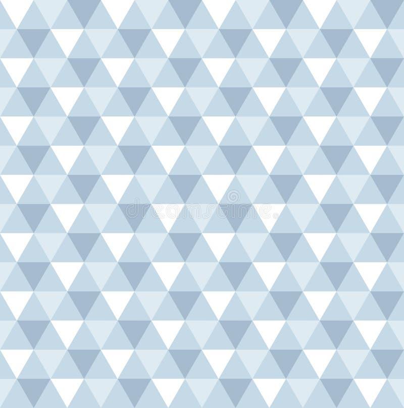Fond géométrique sans couture de modèle de triangle illustration libre de droits