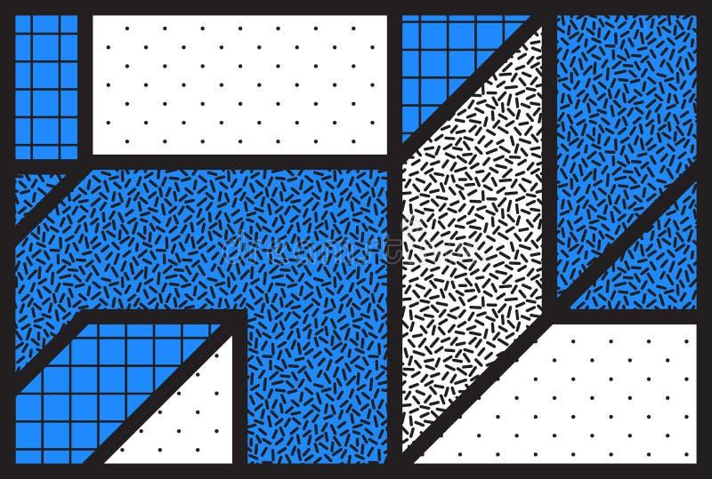 Fond géométrique universel de vecteur de résumé avec minimal illustration libre de droits