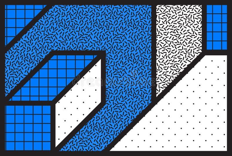 Fond géométrique universel de vecteur de résumé avec minimal illustration stock