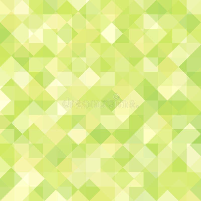 Fond géométrique vert se composant des places et des losanges illustration libre de droits