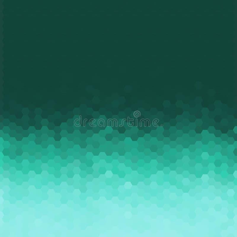 Fond g?om?trique abstrait de vecteur Conception de brochure de calibre Forme bleue d'hexagone ENV 10 illustration de vecteur