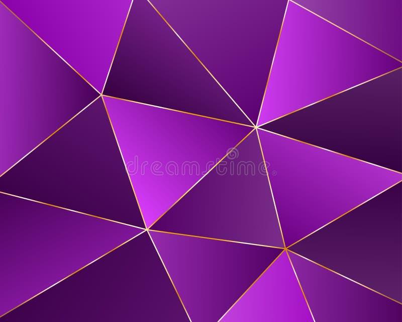 Fond g?om?trique abstrait des triangles illustration libre de droits