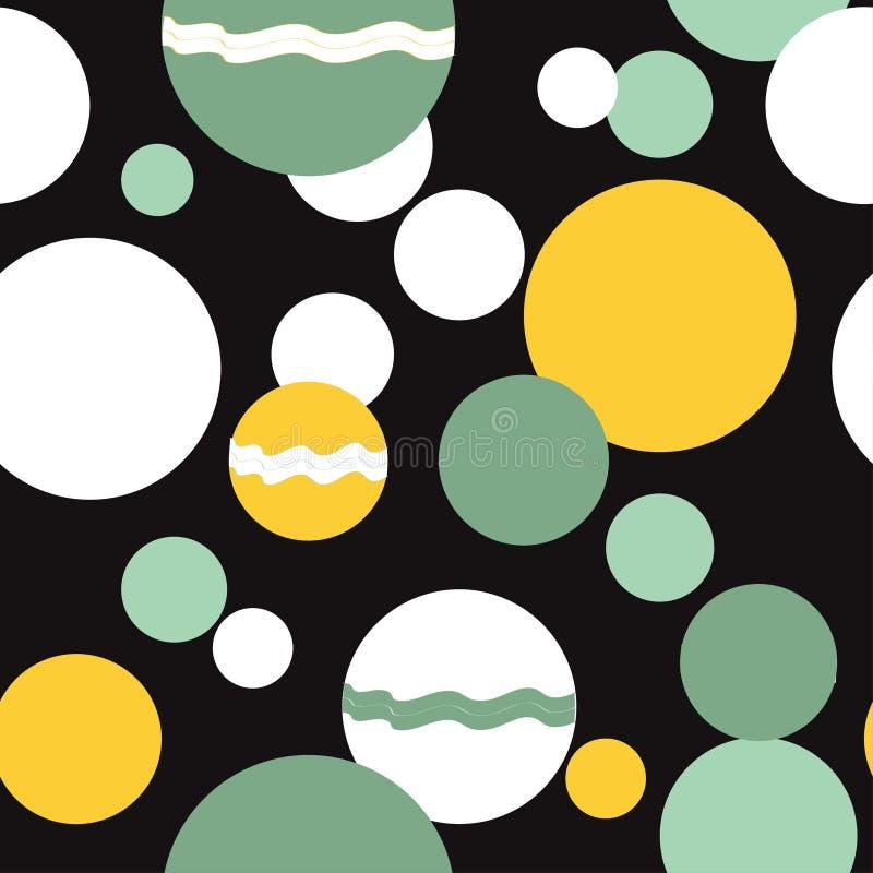 Fond g?om?trique abstrait sans couture avec la forme des cercles, des bulles, de la sph?re ou du mod?le d'ellipses Illustration d illustration stock