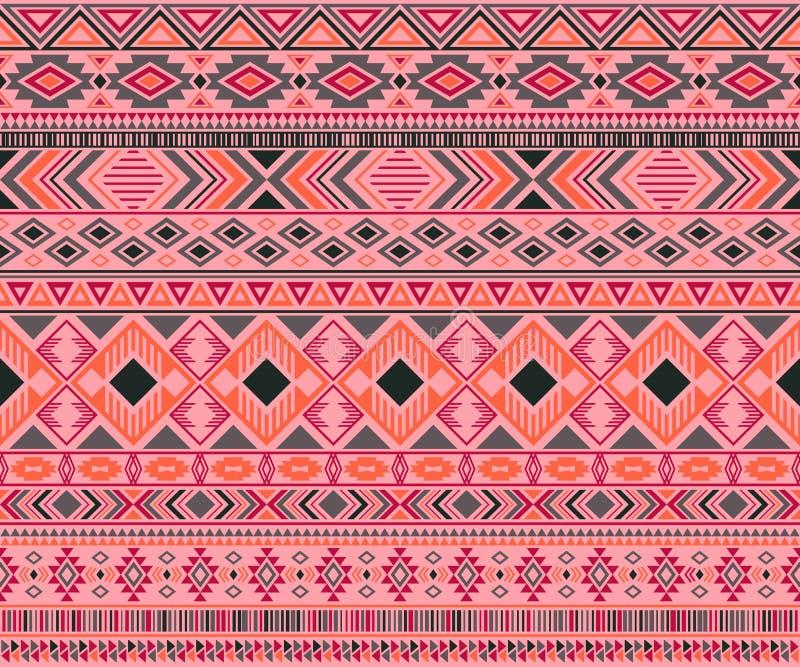 Fond g?om?trique de vecteur de motifs ethniques tribals indiens de mod?le illustration libre de droits