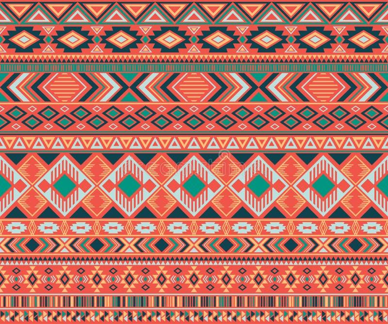 Fond g?om?trique de vecteur de motifs ethniques tribals indiens de mod?le illustration stock