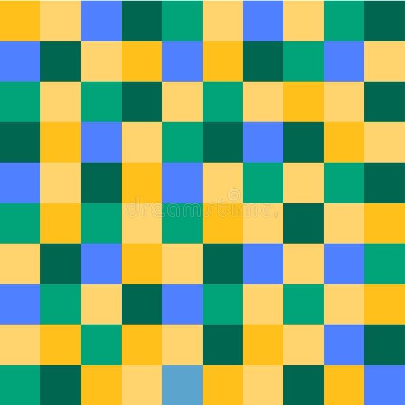Fond g?om?trique des places color?es Fond de pixel illustration libre de droits