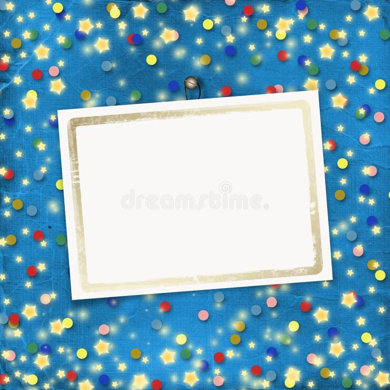 fond gai avec les confettis multicolores illustration de vecteur